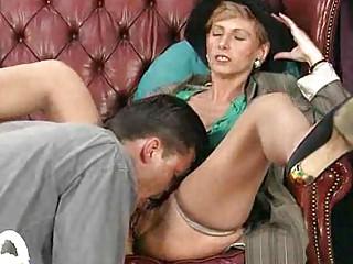 elderly mom enjoys her primary anal sex