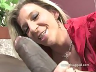 clean older babe prefers big brown cock into