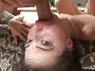 sexy brunette milf with glasses licks on uneasy