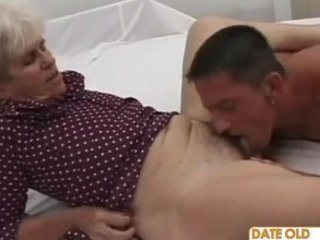 elderly ugly grandma ridding