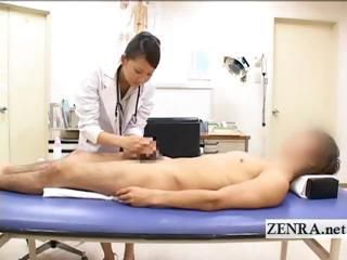 cfnm japanese lady medic bathes patients hard