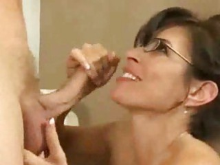 mature babe with black glasses fucks more
