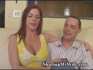fiery redhead girlfriend with lovely boobs