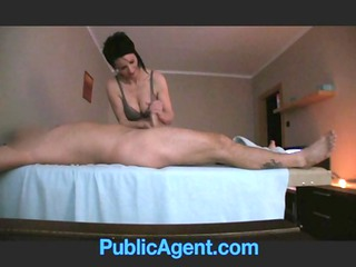 publicagent gang-banging the masseur mature girl