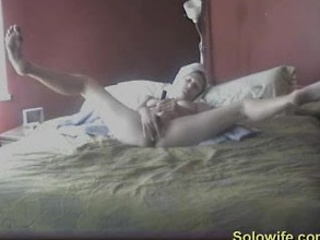 lady caught with legs wide masturbating
