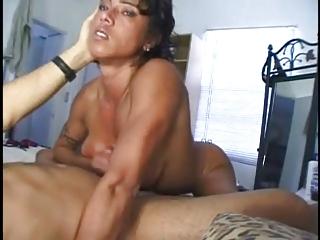 muscle woman handjob