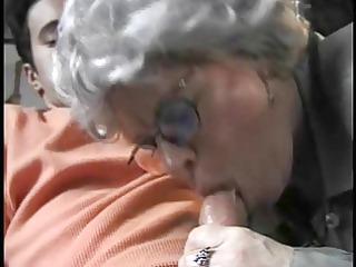 elderly gangbanging her grandson