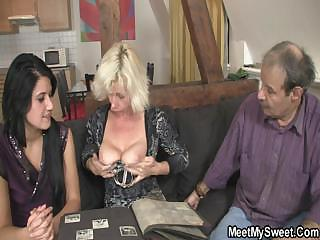 69 with his milf and fucking with dad