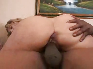 bleached mature babe - anal with fat cock