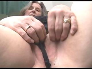 slutty elderly into pantyhose shows off plump