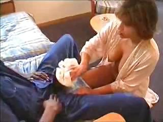 naughty woman gang-bangs these black repair man