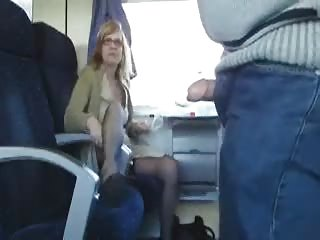 open-air porn into the train with desperate milf