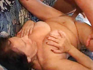 granny sure enjoys her fuck