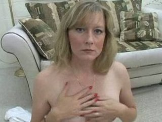 hot woman smokes topless for you