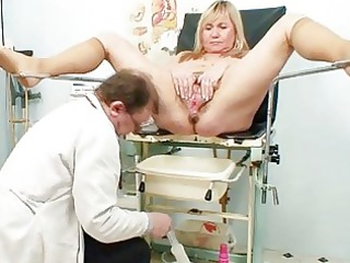 large chest albino cougar furry kitty exam