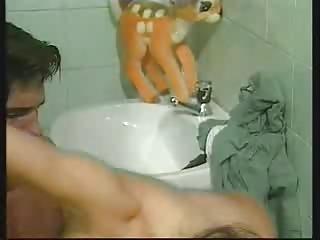 awesome woman inside tub