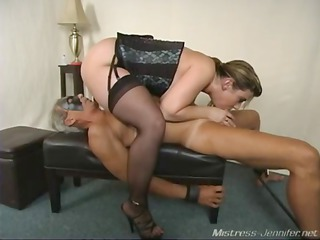 a desperate slut mistress alix abuses a strapped