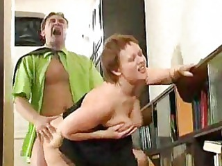 fat elderly housewife pierced by horny boy