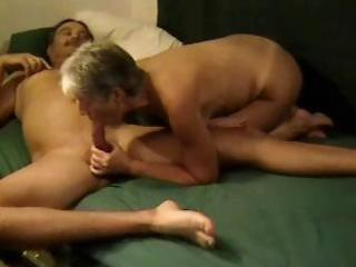 older blonde nympho young eats his penis next