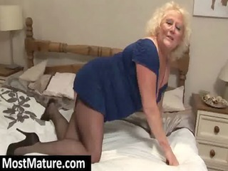 naughty granny uncovering boobs