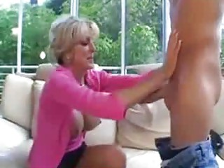 these older milfs gang-bangs a younger male on a