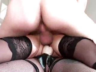 mature with saggy boobs tortured by perverse duo