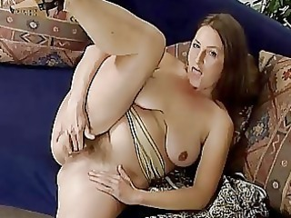 mature albino pleasing with herself