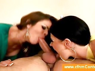 cfnm dick licking from two milfs into a beauty