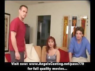 redhaired woman as bride does libido licking for