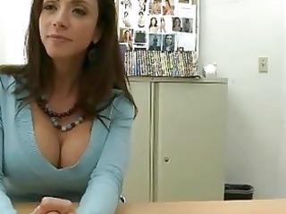 grown-up brunette sells her shape to huge dick