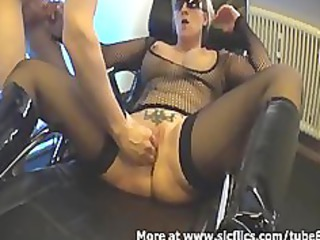 fisting my naughty wifes loose whore till she