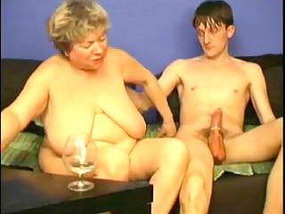 masturbating with corpulent grandma by troc