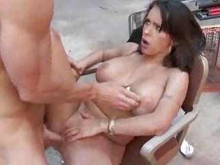 brunette slutty mature babe gets drilled into