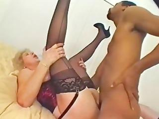 masturbating mature angel has a taste for brown