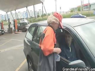 desperate elderly acquires two libidos in the