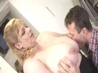 golden-haired big delightful woman-mother id like