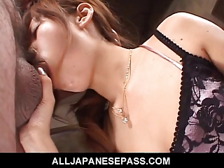 thin japanese lady acquires face fucked by a