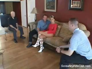 brunette wife needs a little help into the porn