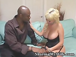 plump boobed ashen wife gang-banged by stud