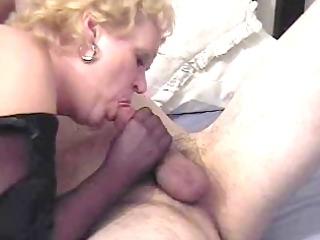 nasty auntie fannys pantyhose handjob