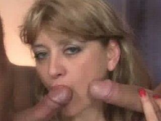 two fellows pick up mature and fuck her hard