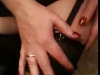 woman inside outside lingerie