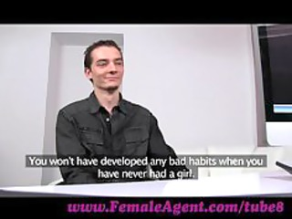 femaleagent. virgin takes expert guidance from