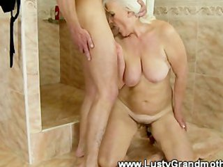 grown-up fresh elderly sucks after that fucked by