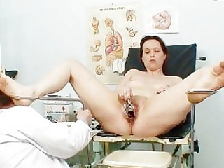 unpretty ancient chick at pervy gyno doctorhttpww