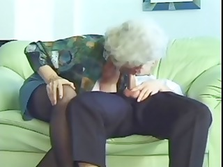 busty girl old norma with droopy chest takes