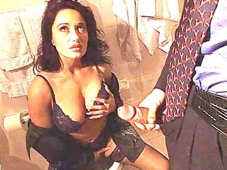 erica bella obtain pierced inside the toilet
