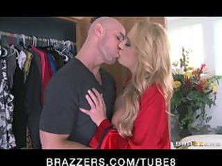 solitary blond grown-up angel catches her peeping