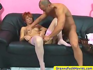 granny tasting penis during rubbing cave
