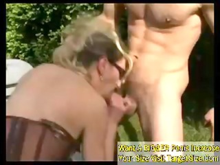 busty french cougar chick gangbangs her young